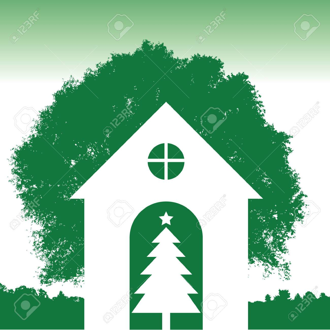A green Christmas background Stock Vector - 4198059