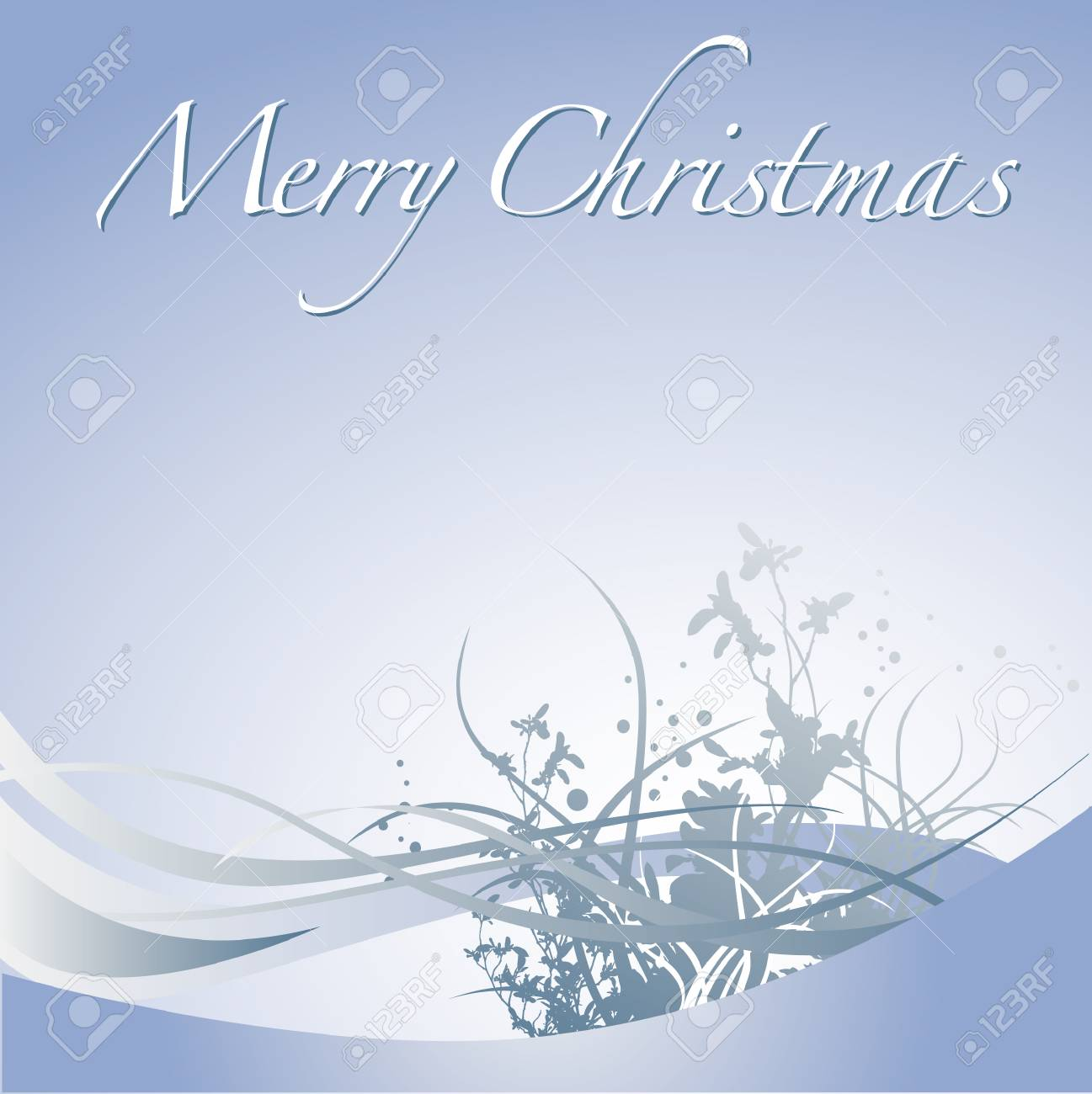 A Merry Christmas vector winter holiday background Stock Vector - 4264425