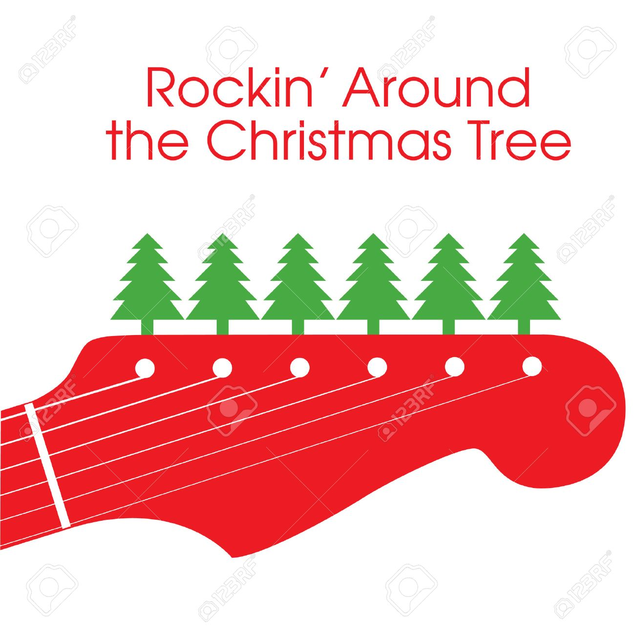Rockin' Around The Christmas Tree Royalty Free Cliparts, Vectors ...