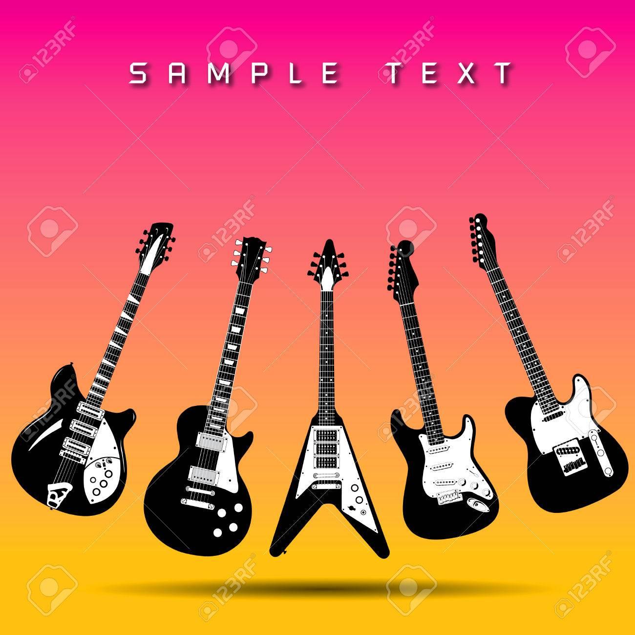 Guitar background Stock Vector - 6708137