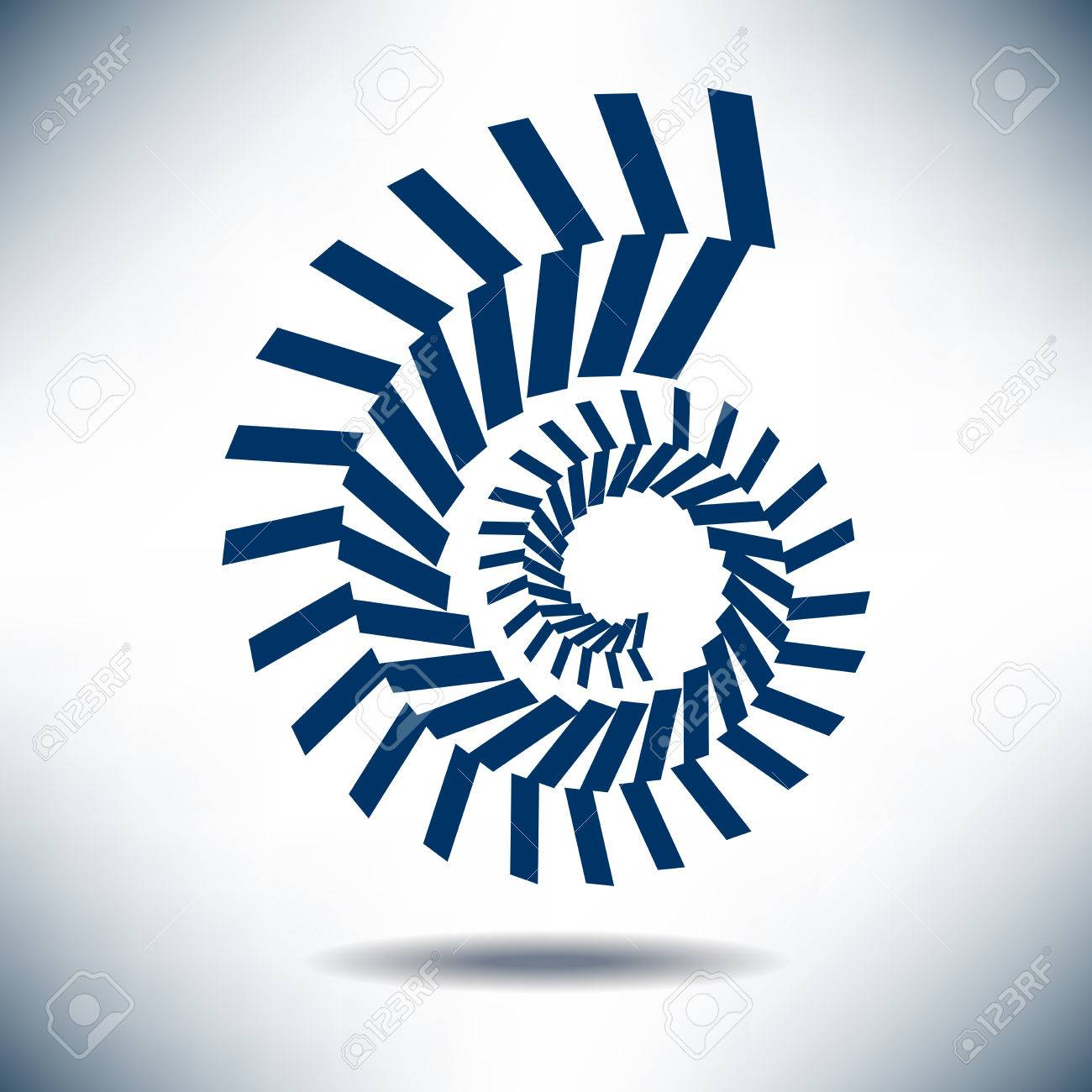 Nautilus Image with a Simple Blue Background - 39979890
