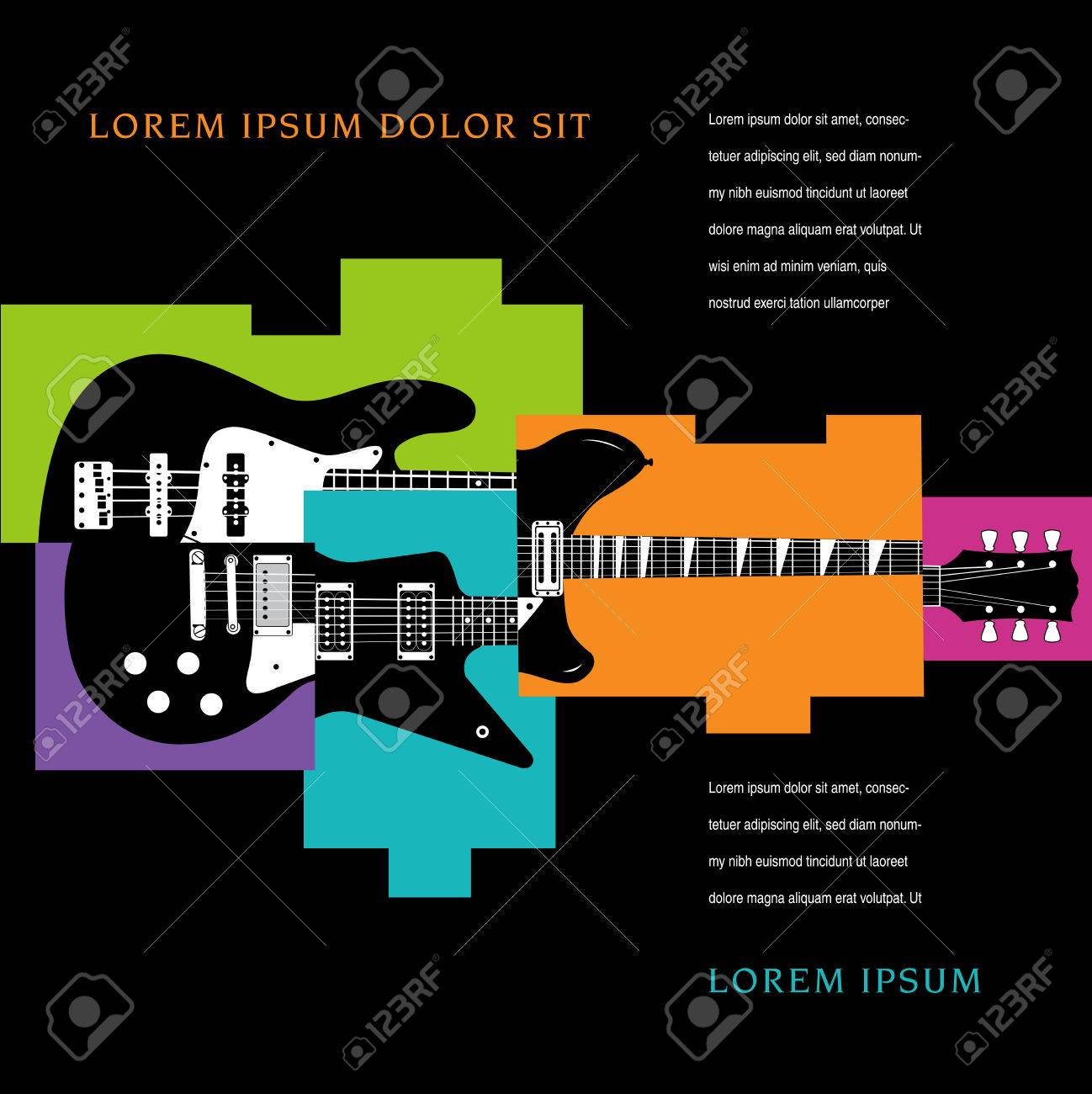 Music Concert Poster Layout Template Stock Vector