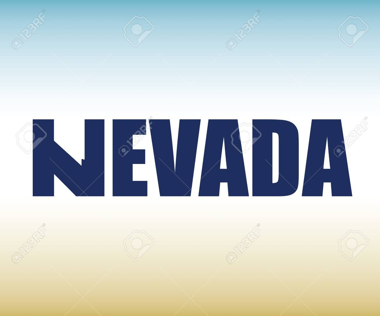 The Nevada Shape Is Within The Nevada Name Royalty Free Cliparts Vectors And Stock Illustration Image 63045143