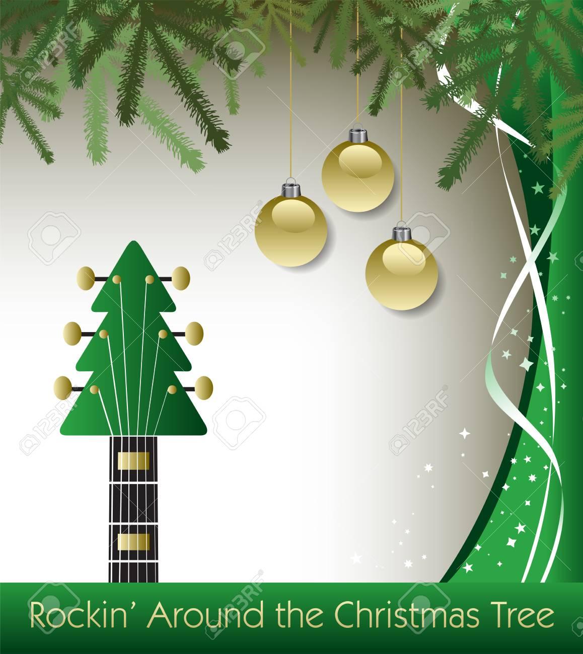 Rockin Around The Christmas Tree.Rockin Around The Christmas Tree Guitar Background