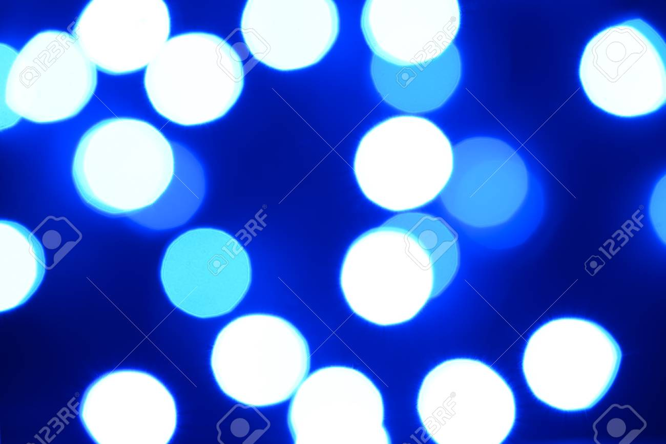 Defocused abstract blue christmas background Stock Photo - 18828044