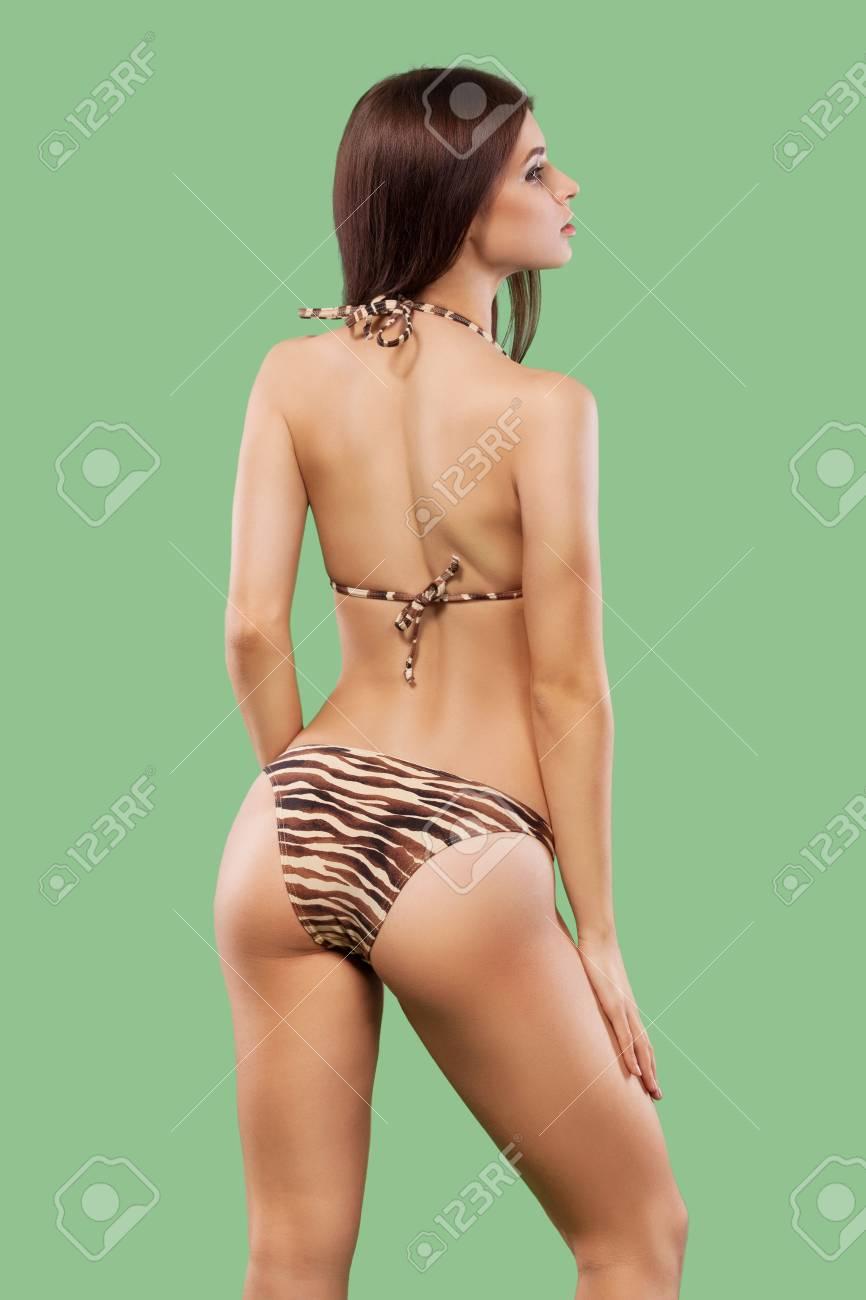 Swimwear Posing Background Wearing On Sexy Woman Blonde Color W92EDHIeYb