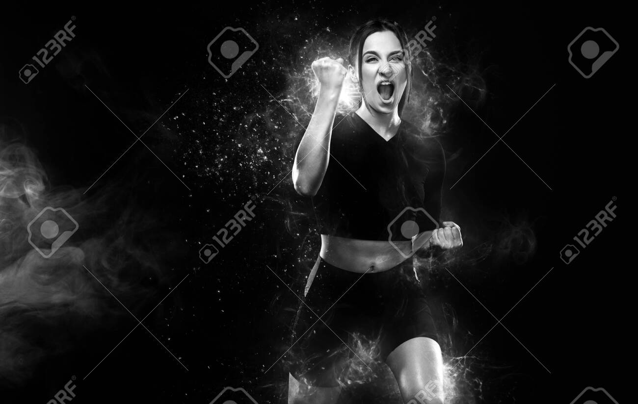 Fitness And Sport Motivation Strong And Fit Athletic Woman Stock Photo Picture And Royalty Free Image Image 141326291 See more ideas about fit women, fitness girls, women. 123rf com