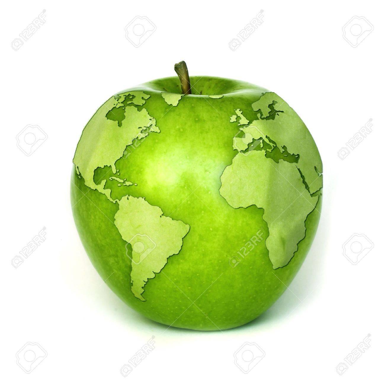 apple contours of the globe Stock Photo - 3061013