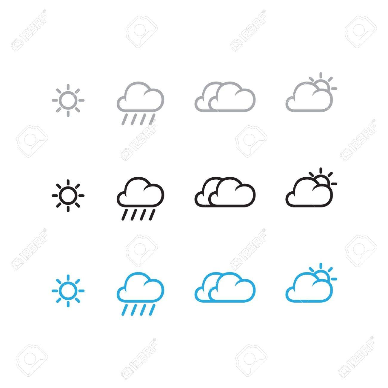 Weather Icon Set Stock Vector - 13917066