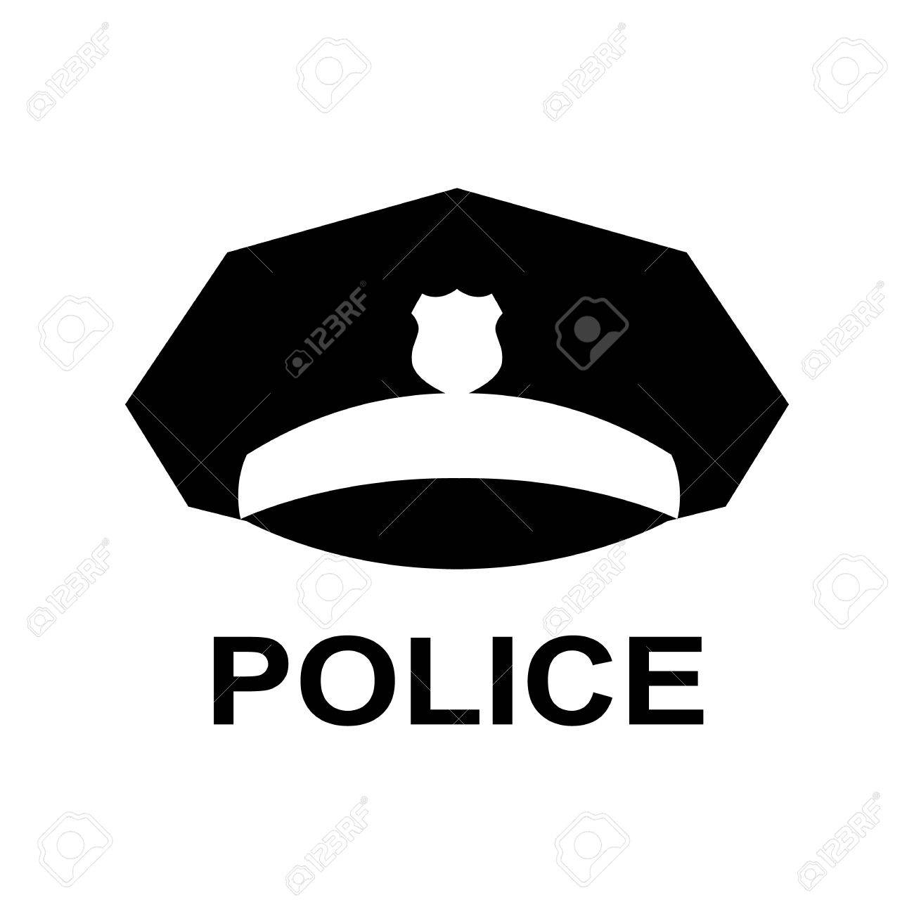 a3b547828dc Police cap icon. Serviceman s hat symbol. Silhouette vector illustration  Stock Vector -