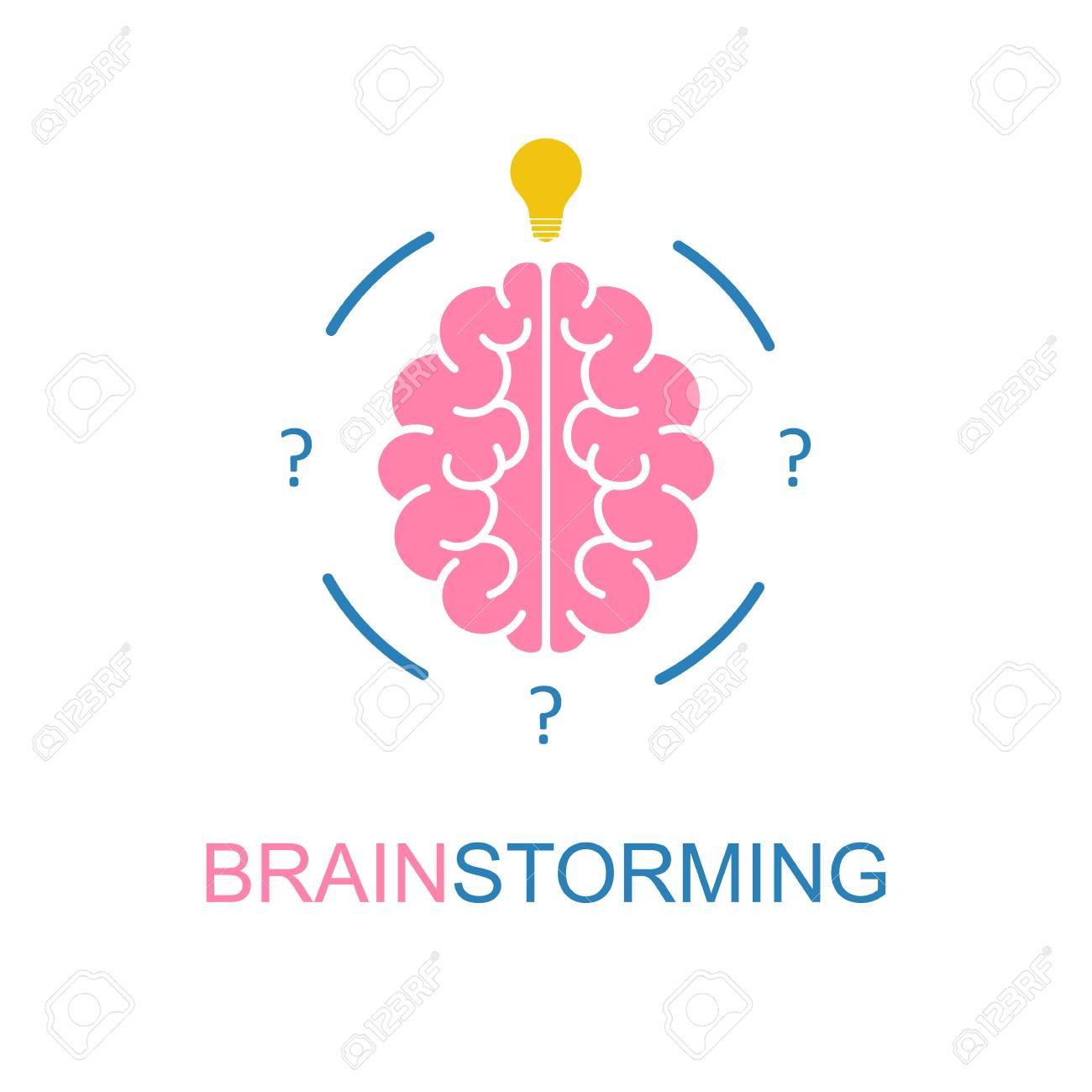 Cerebro, Brainstorming, Idea, Logotipo De La Creatividad E Icono ...