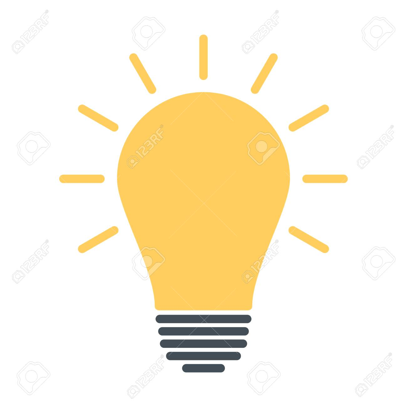 Light Bulb Icon Idea Sign Solution Thinking Concept Lighting