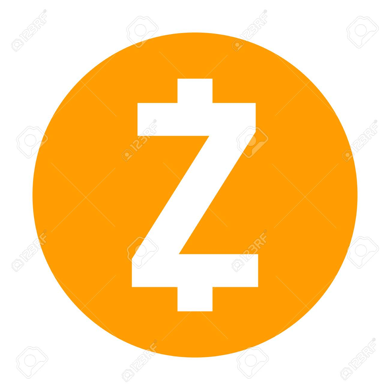 Zcash Icon For Internet Money Crypto Currency Symbol Using