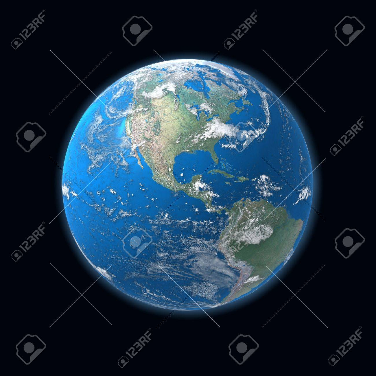 High Detailed Globe Map Central America Usa Stock Photo Picture - Usa globe map