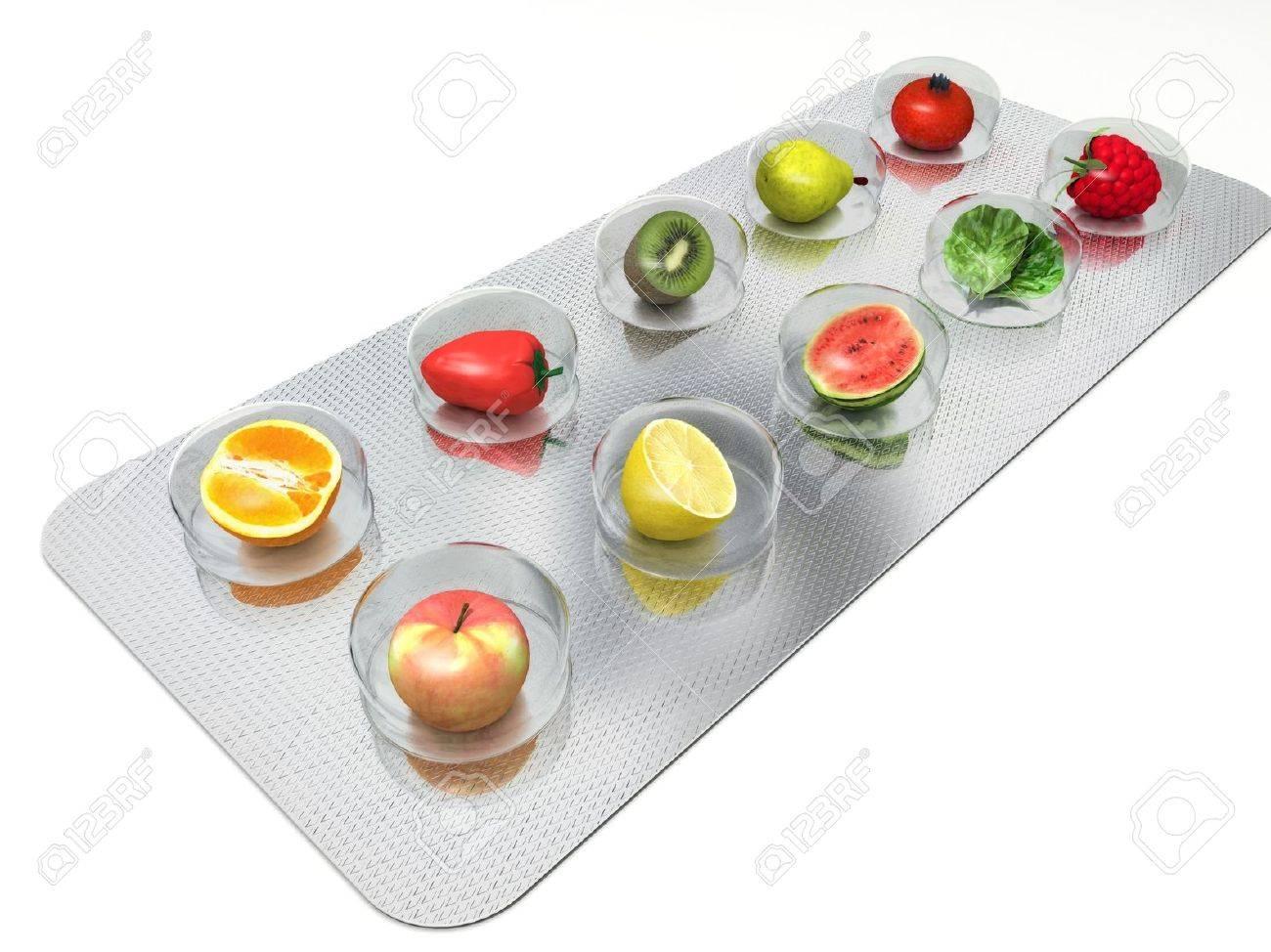 natural vitamin pills Stock Photo - 10628117