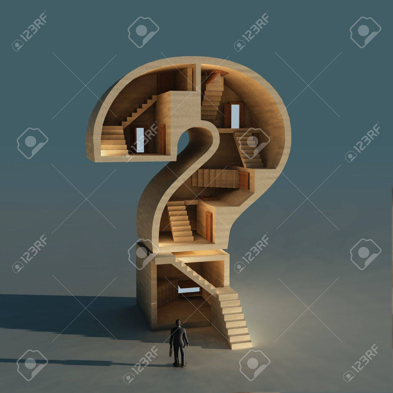 complicated business question Stock Photo - 10628112
