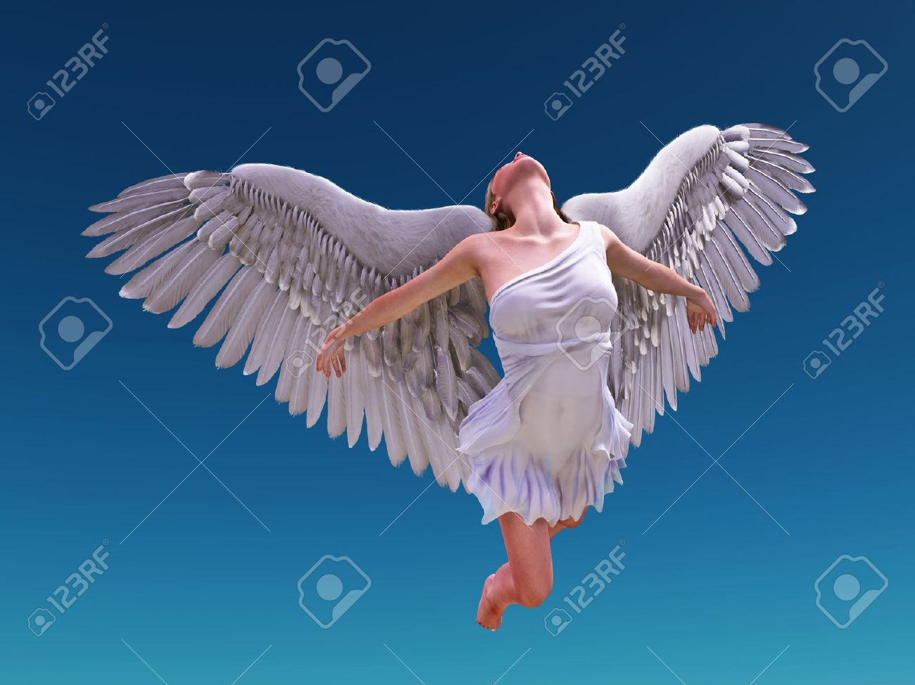angel fly to sky Stock Photo - 11545435
