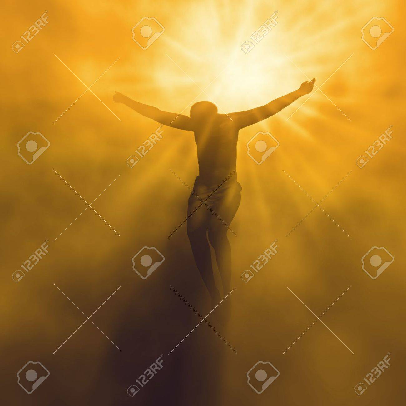 jesus christ in heaven stock photo picture and royalty free image