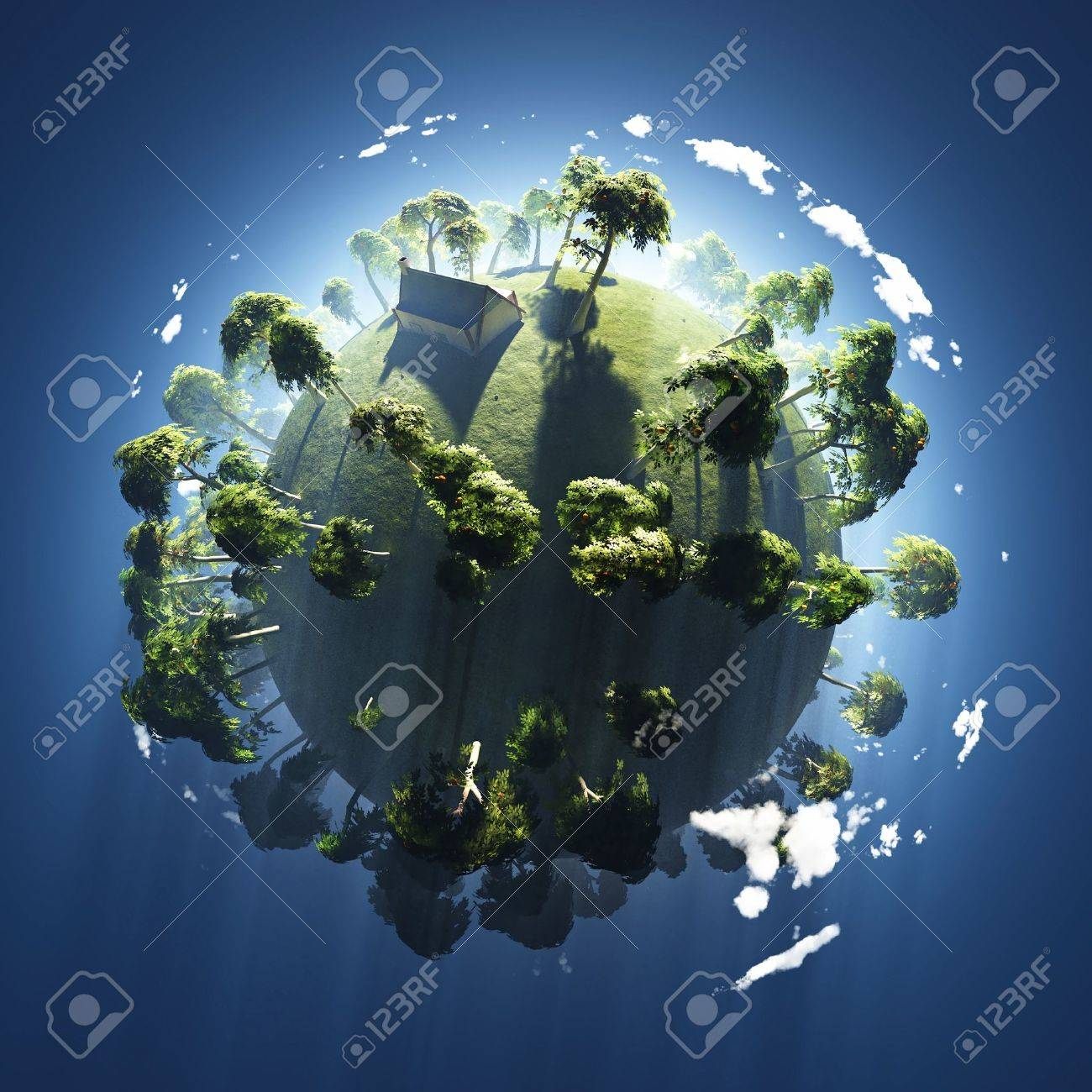 summer on small green planet Stock Photo - 11545404