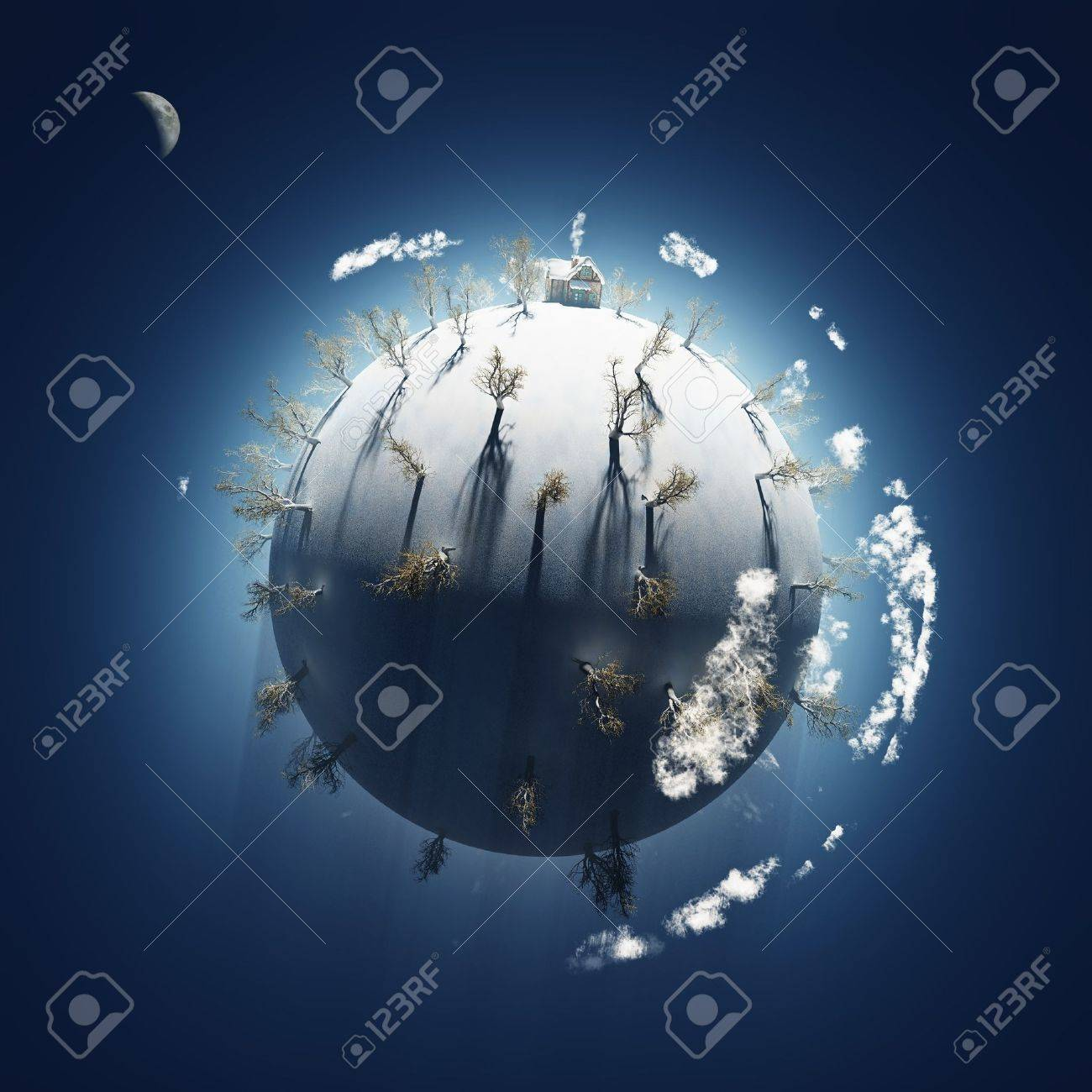 winter on small planet Stock Photo - 11545388