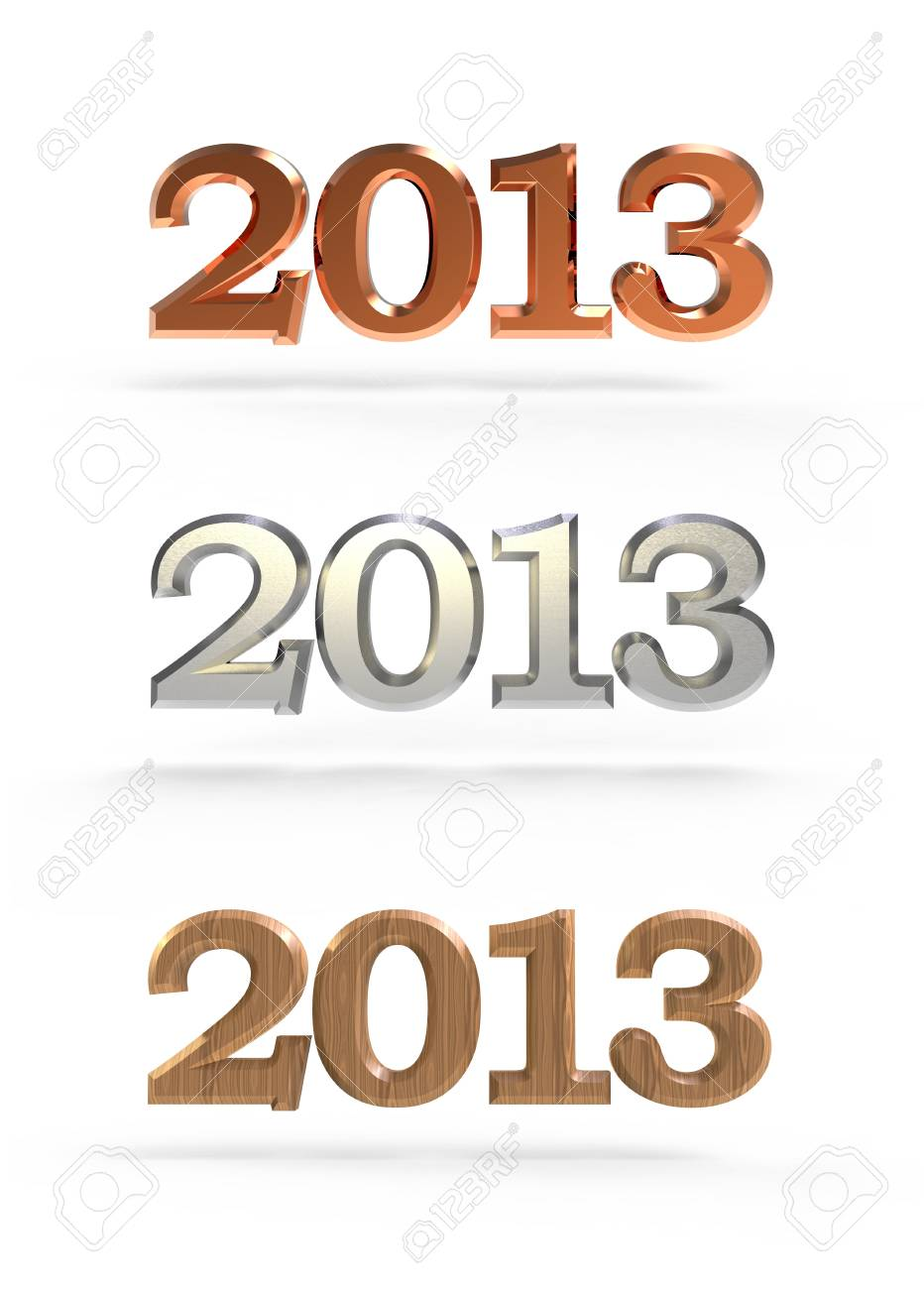 new year 2013 numbers Stock Photo - 15122705