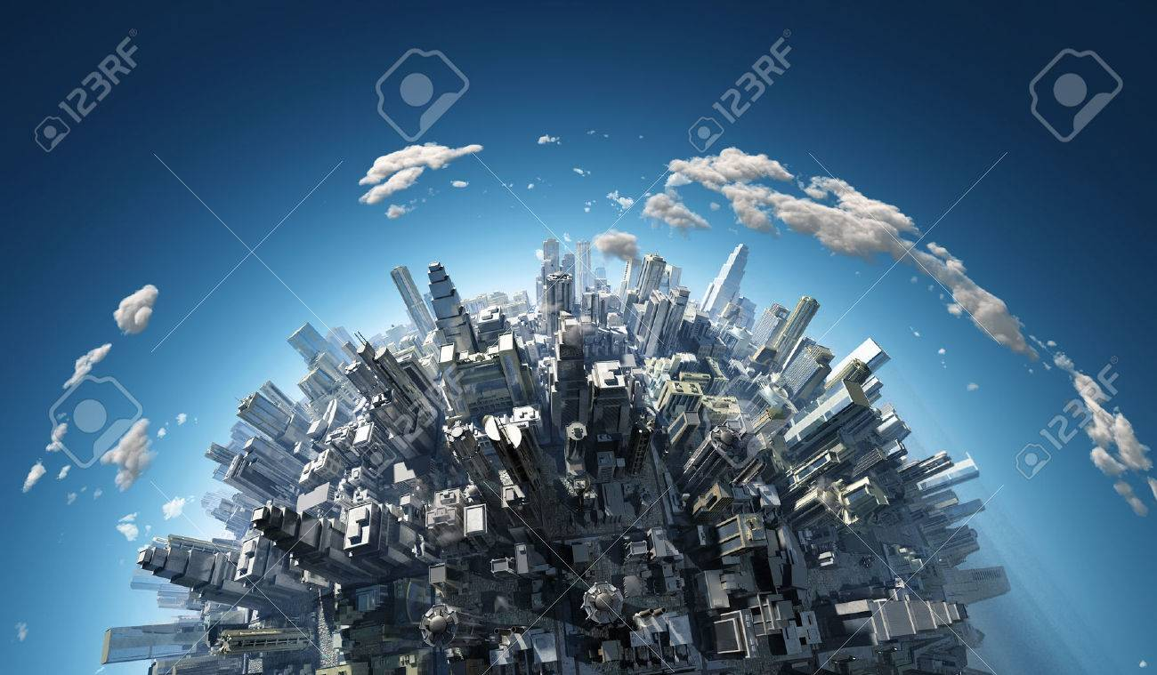 megalopolis aerial view - 47744974