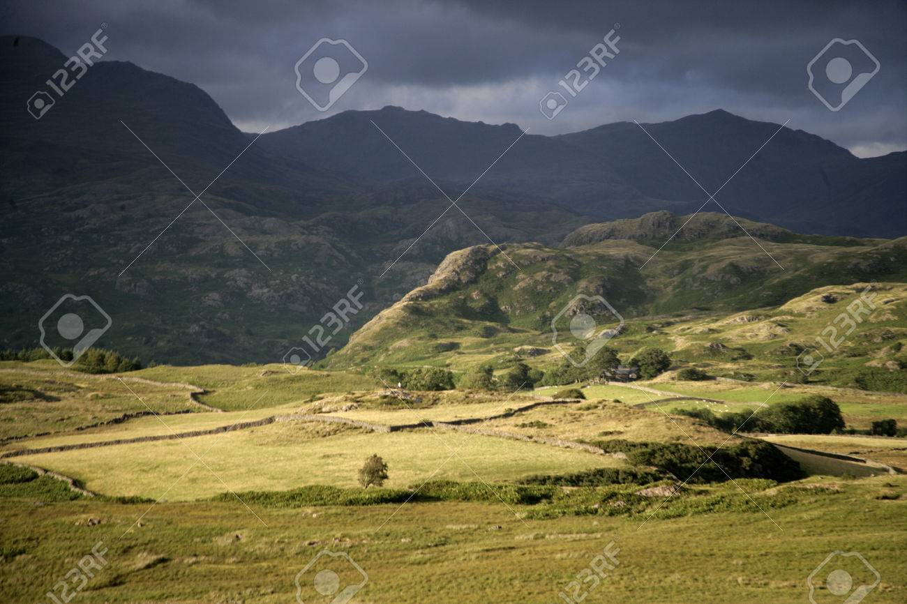 Birker Fell, Lake District in Cumbria, UK Stock Photo - 23569229