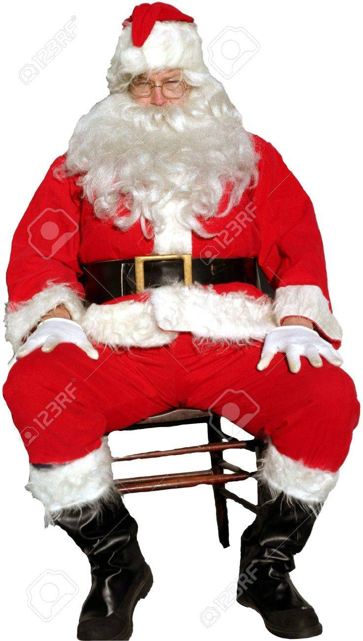 santa claus sits in a chair stock photo picture and royalty free