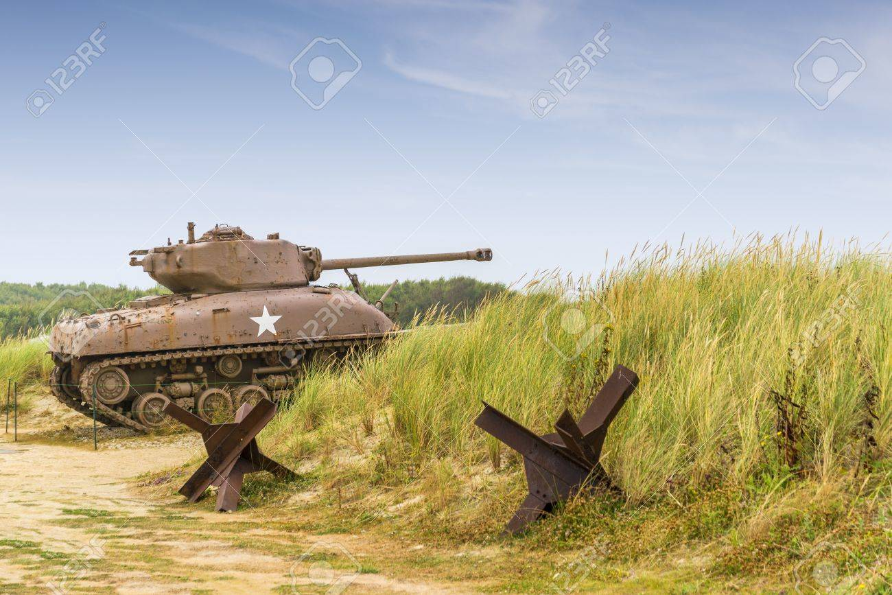 WW2 Char Sherman à Utah Beach