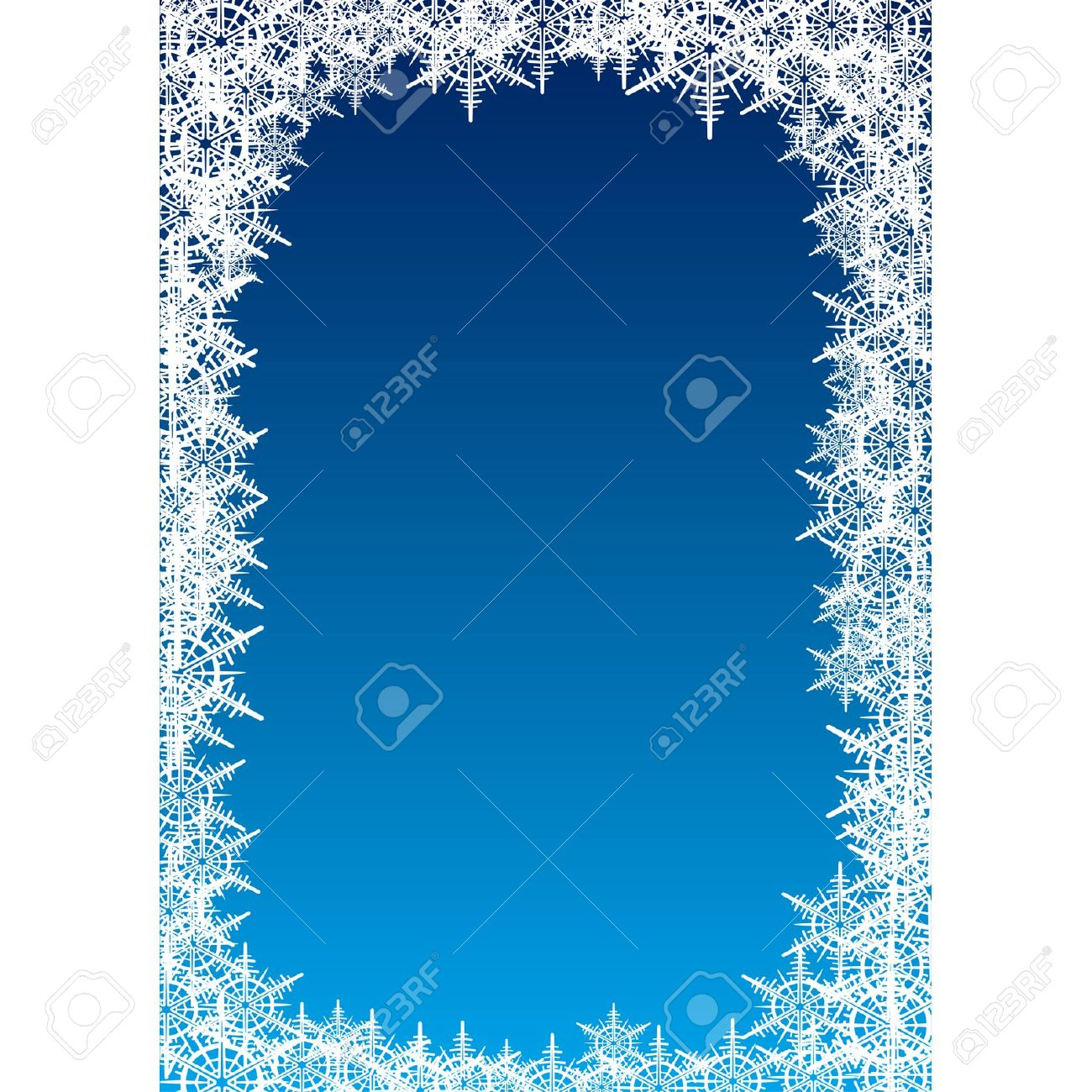 Illustration Frame Consist Of Snowflakes For Greetings Posters