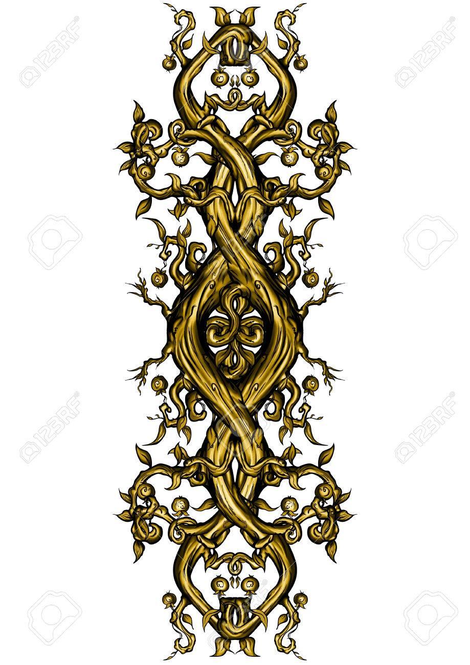 Ilustracion Troncos De Arboles Y Ramas Asperas Extranas Simbolo - Troncos-de-arboles-decorativos