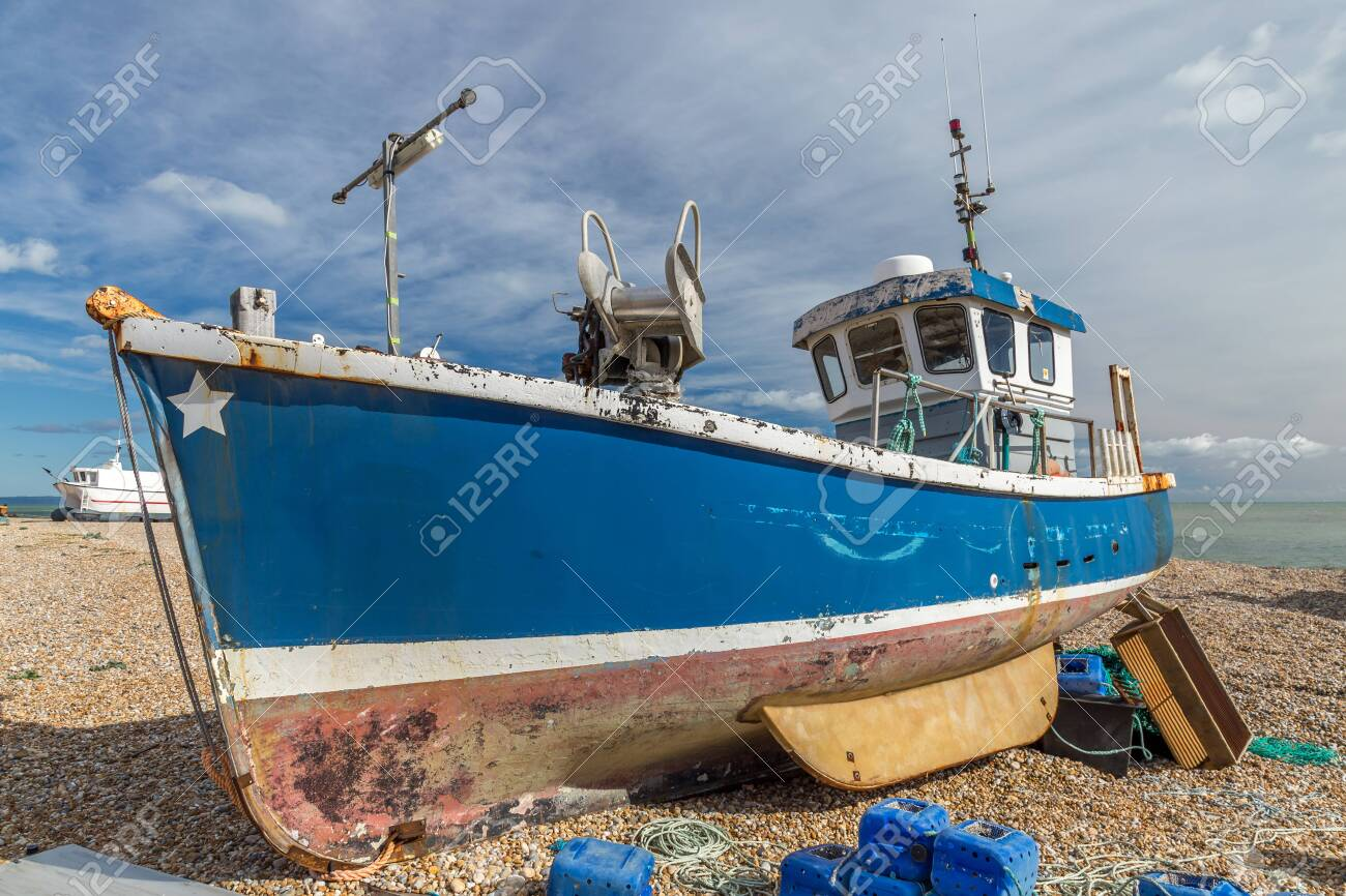 Abandoned Boat in Dungeness England - 121325447
