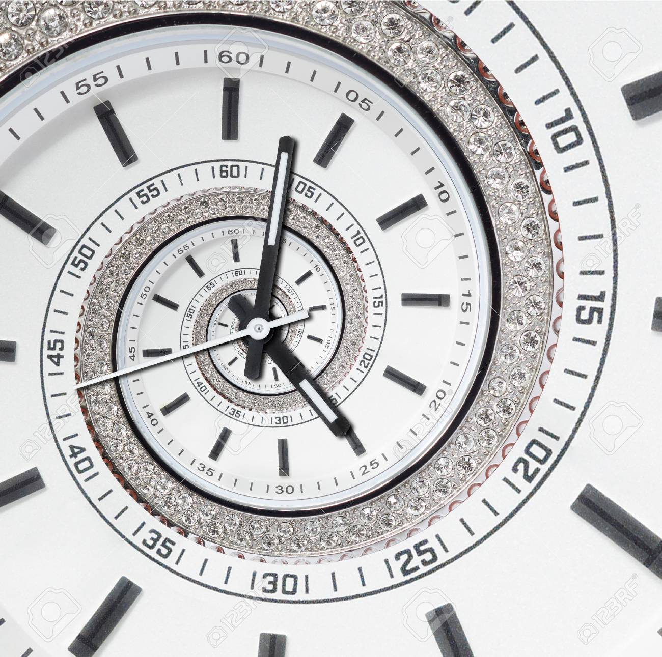 Futuristic Modern Strass Diamond White Clock Watch Abstract Fractal Stock Photo Picture And Royalty Free Image Image 89027630