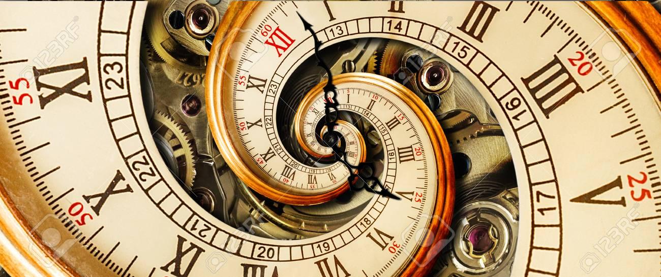 Romano Del Árabes Moda Números Reloj Mecanismo Antigüedad EspiralMira Clásico Antiguo RelojDe Fractal Abstracto El Manos W29EIDHY