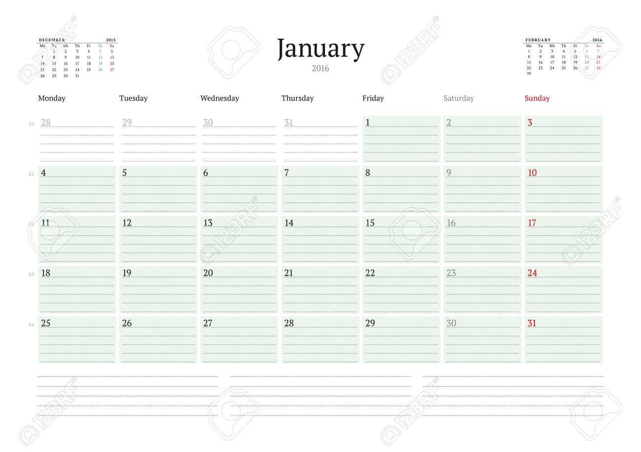 Contemporáneo Calendario Plantilla Mensual 2014 Bandera - Ejemplo De ...