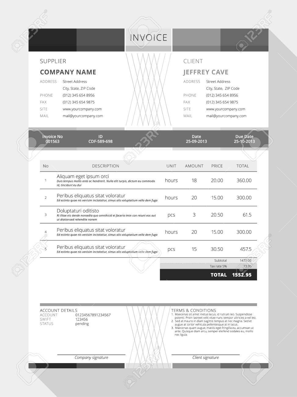 Reliefworkersus  Surprising Design An Invoice  Professional Graphic Design Invoice  With Gorgeous Vector Customizable Invoice Form Template Design Vector   Design An Invoice With Extraordinary Copies Of Invoices Also Construction Invoice Factoring In Addition Pay Invoices And Free Fillable Invoice Template As Well As Invoice Terms And Conditions Example Additionally Lawn Service Invoice Template From Happytomco With Reliefworkersus  Gorgeous Design An Invoice  Professional Graphic Design Invoice  With Extraordinary Vector Customizable Invoice Form Template Design Vector   Design An Invoice And Surprising Copies Of Invoices Also Construction Invoice Factoring In Addition Pay Invoices From Happytomco