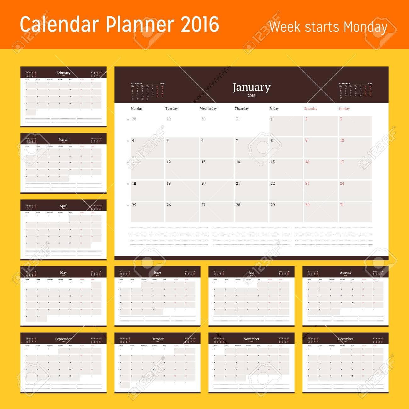 Fantástico Planificador Plantillas 2014 Imágenes - Ejemplo De ...