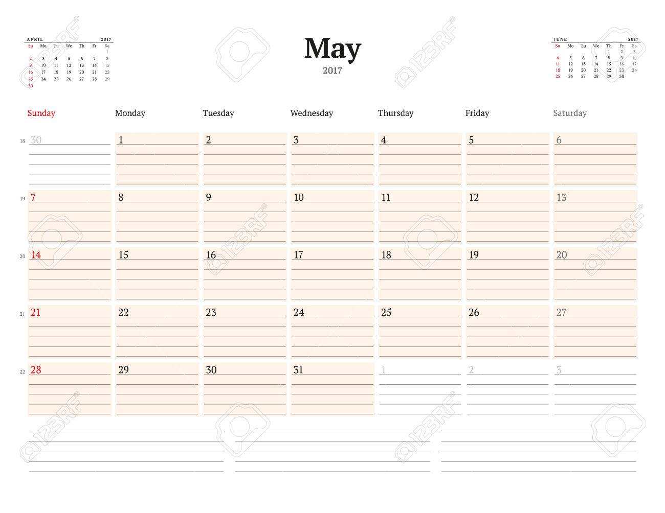Kalendervorlage Für 2017 Jahr. Kann. Business Planner Vorlage ...