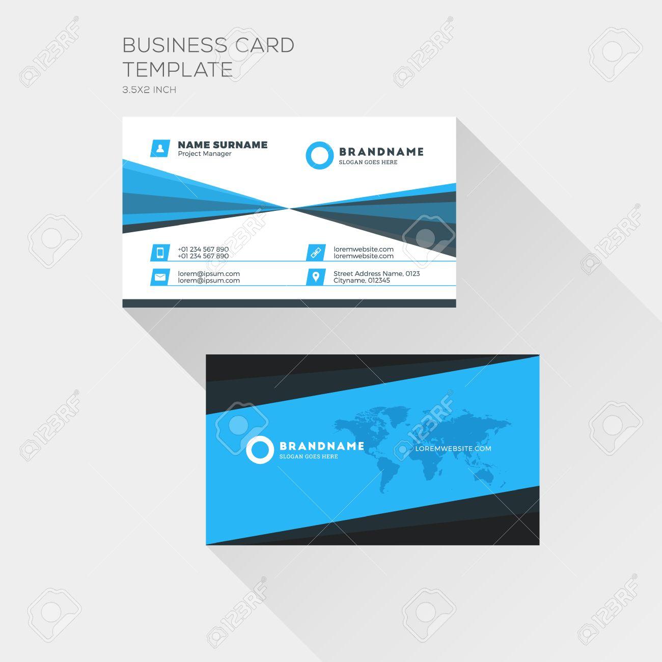 Corporate business card print template personal visiting card corporate business card print template personal visiting card with company logo clean flat design magicingreecefo Gallery