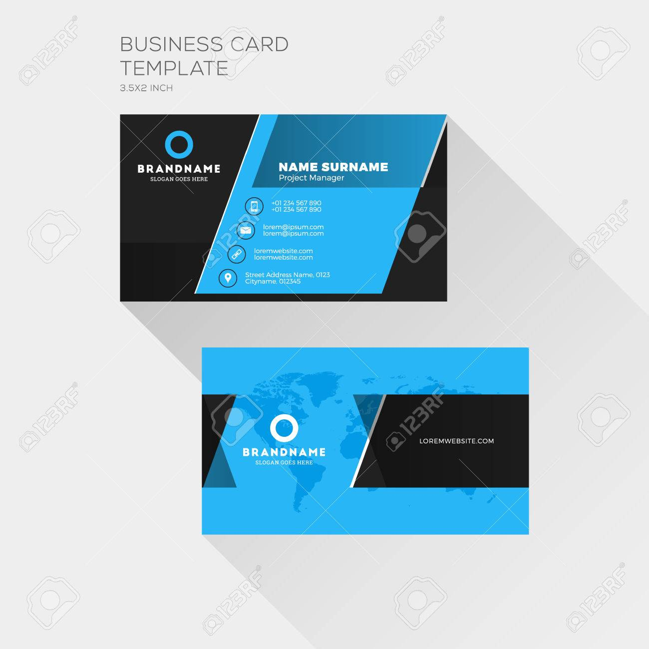 Corporate business card print template personal visiting card corporate business card print template personal visiting card with company logo clean flat design cheaphphosting Image collections