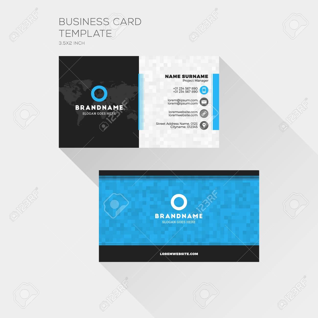 Carte De Visite D Entreprise Modele D Impression Carte De Visite