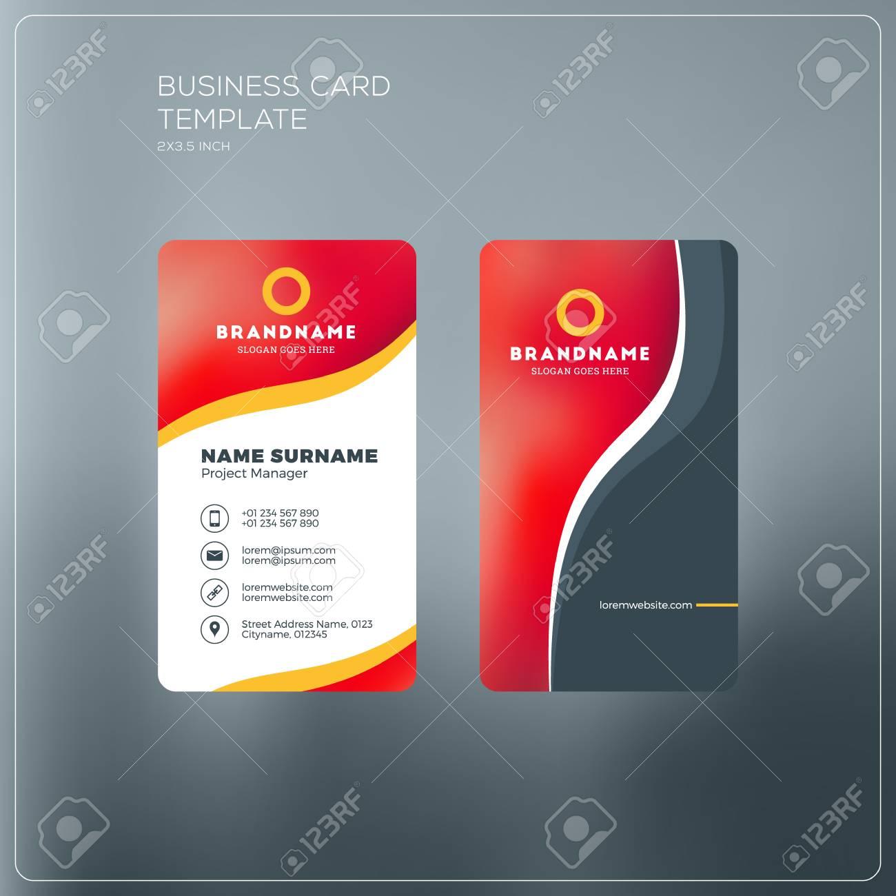 plantilla de impresión tarjetas de presentación vertical tarjeta de