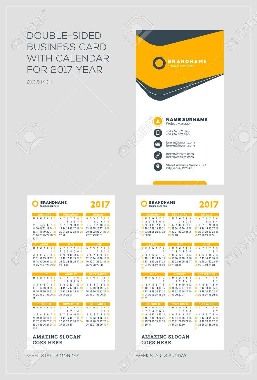 2 Sided Business Card Template Images - Templates Example Free ...