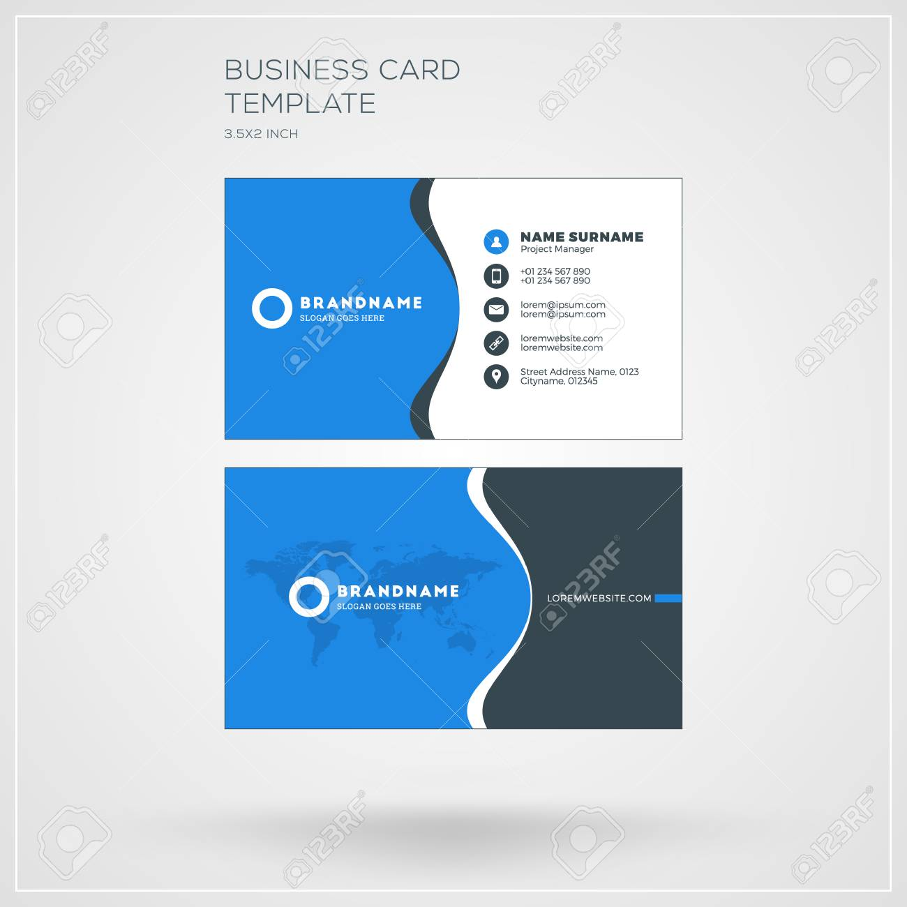 Business Card Print Template Personal Visiting Card With Company