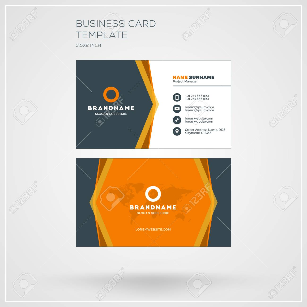 design carte de visite Business Card Print Template. Personal Visiting Card With Company