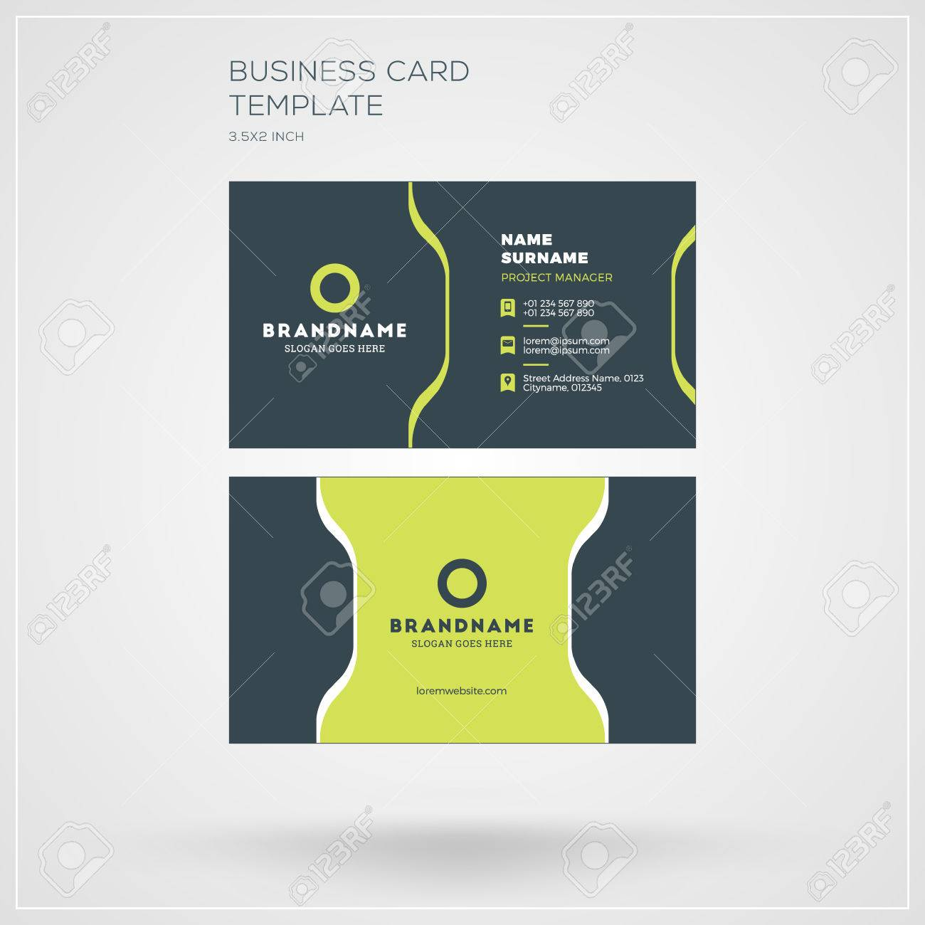 foto de archivo plantillas de tarjetas de vectores tarjeta de presentacin personal con logotipo de la compaa diseo plana y limpia