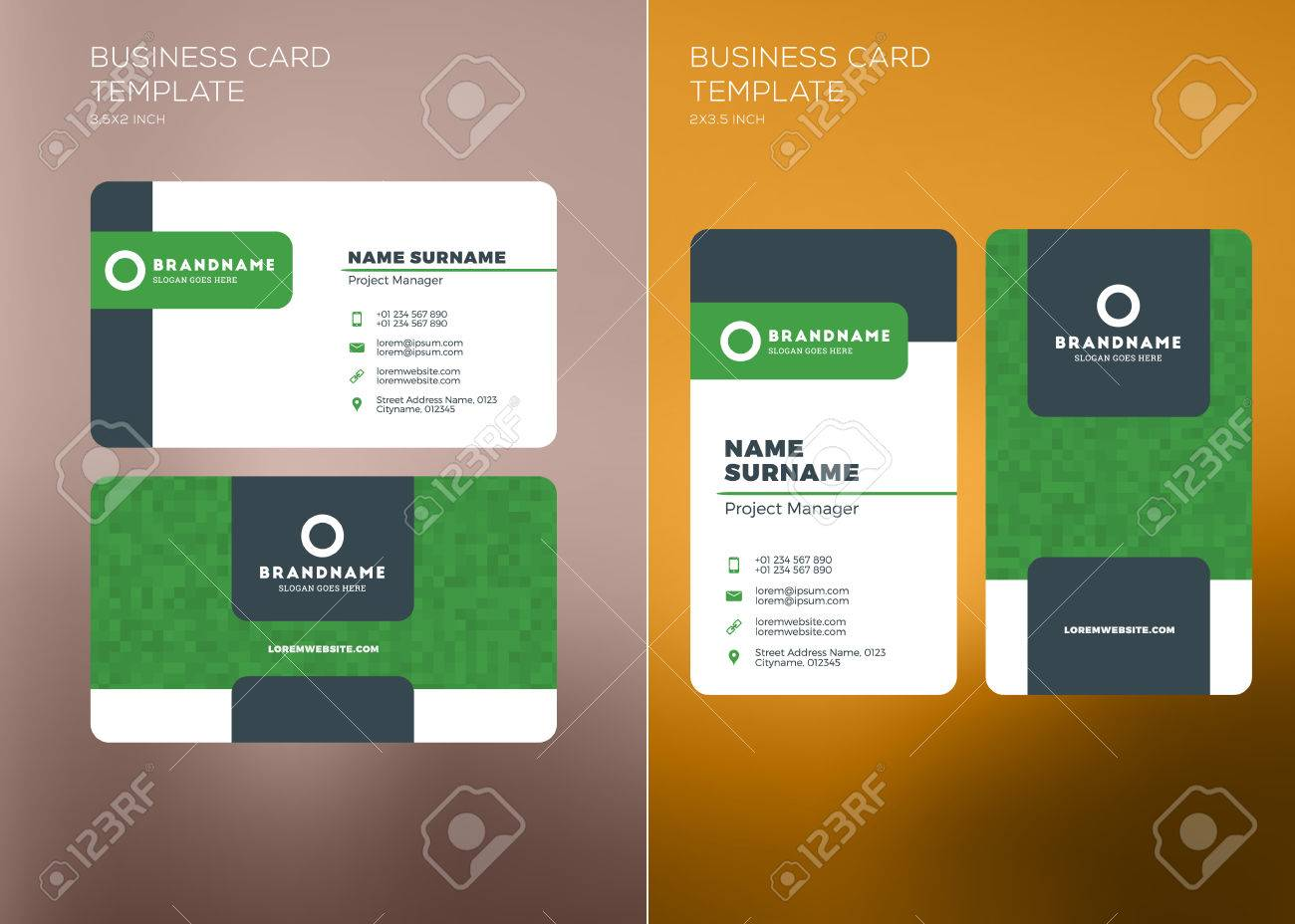 Corporate business card print template personal visiting card corporate business card print template personal visiting card with company logo vertical and horizontal reheart Gallery