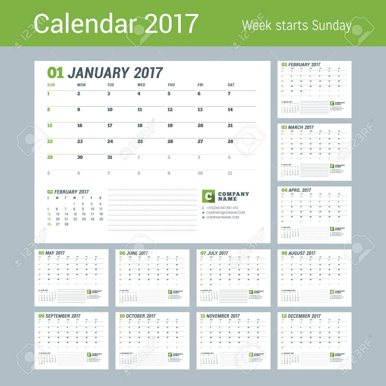 calendar template for 2017 year business planner 2017 template