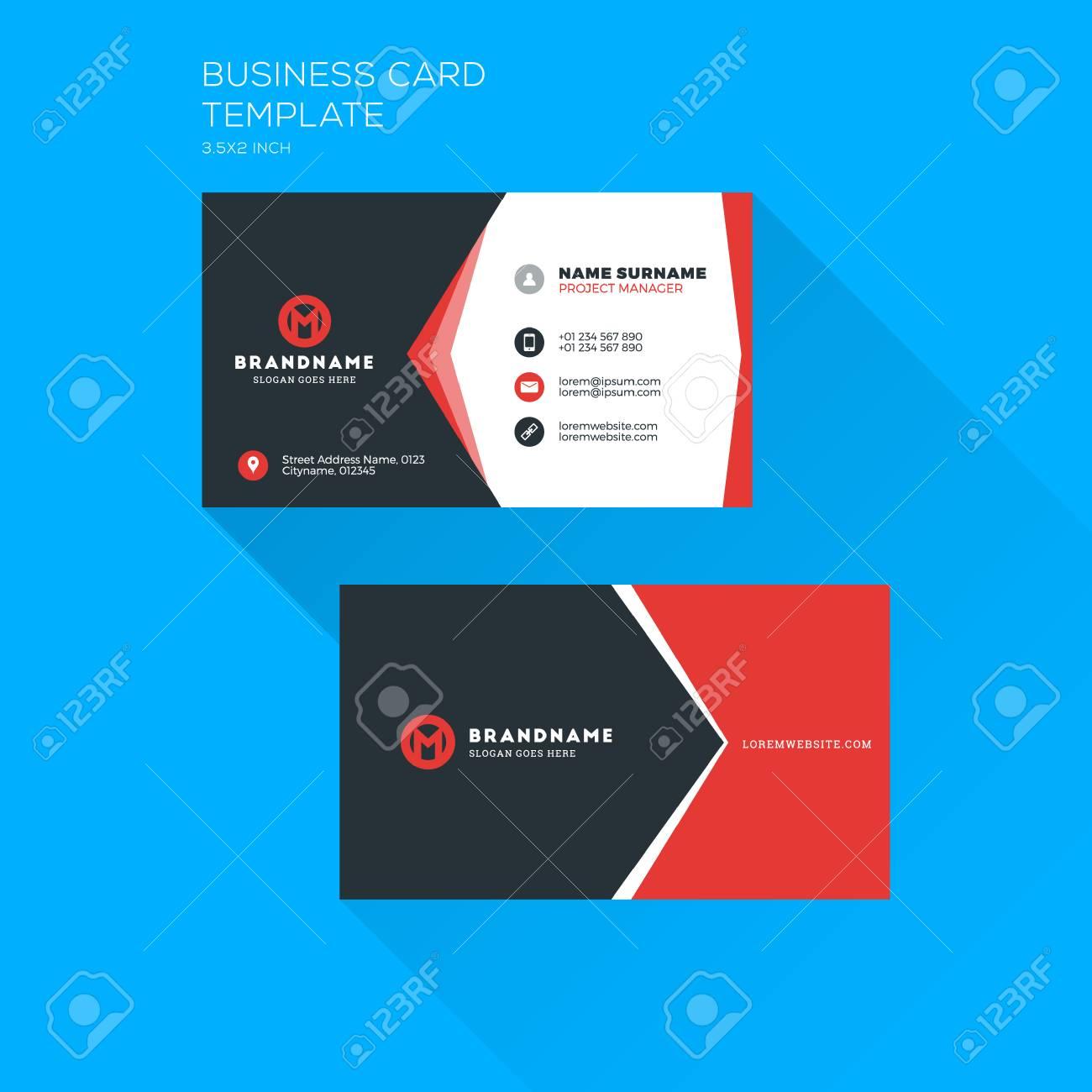 Modele D Impression De Carte De Visite Corporative Carte De Visite