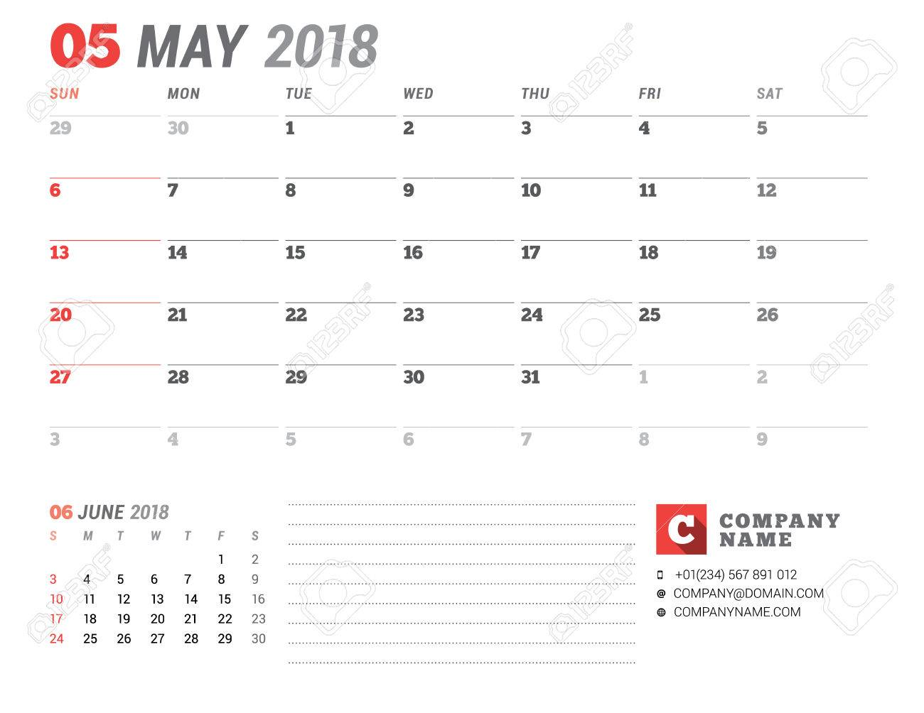 Calendar template for 2018 year may business planner template calendar template for 2018 year may business planner template stationery design week accmission Gallery